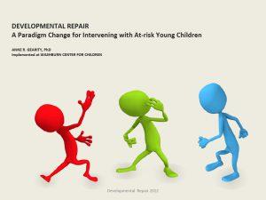 Developmental Repair: A Training Manual