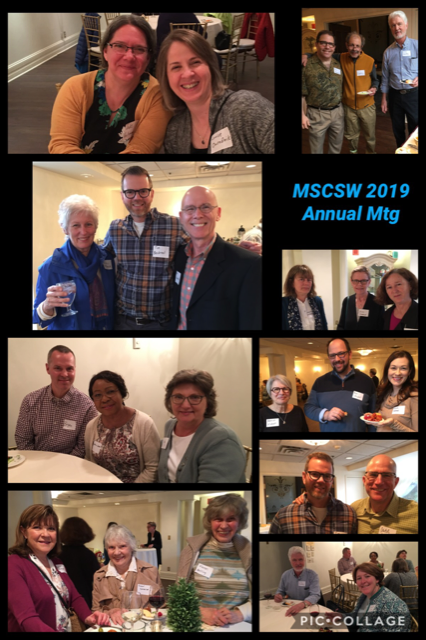 Photo collage from the MSCSW 2019 Annual Meeting